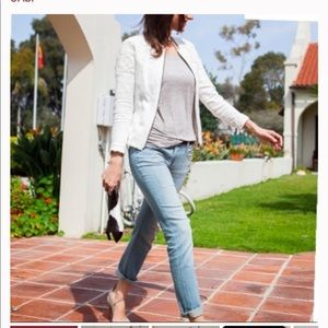 Cabi White Lace Occasion Zip Up Jacket Style 715